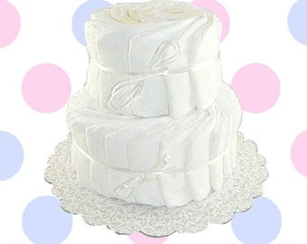 2 Layer- Decorate It Yourself Baby Shower Diaper Cake