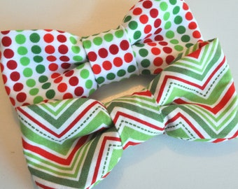 Pick one - Boys Bow Tie in Red, White, and Green