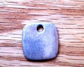 Sterling Silver Flat Rounded Edged Square Pendant