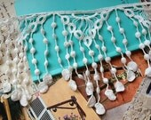 off White Cotton Lace Trim Raindrops Cotton Tassels Fabric Supplies Adorable Rococo Fashion Necklace Jelwery Design