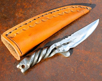 Hand Forged Horseshoe Knife- Pony Shoe