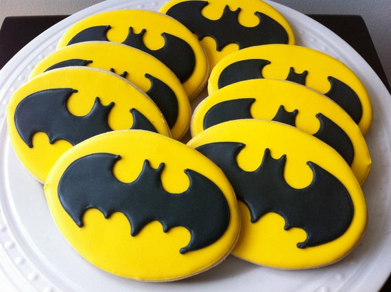 Items Similar To Decorated Batman Logo Cookies For Your