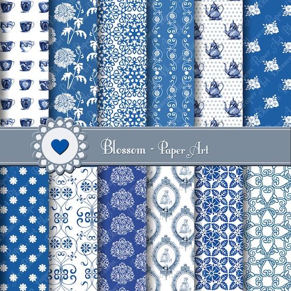 Papel Scrapbook Para Imprimir Azul Imagui
