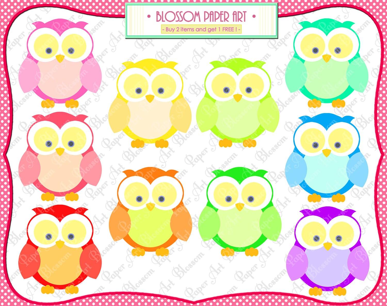 owls clipart png digital owls printables cardmaking