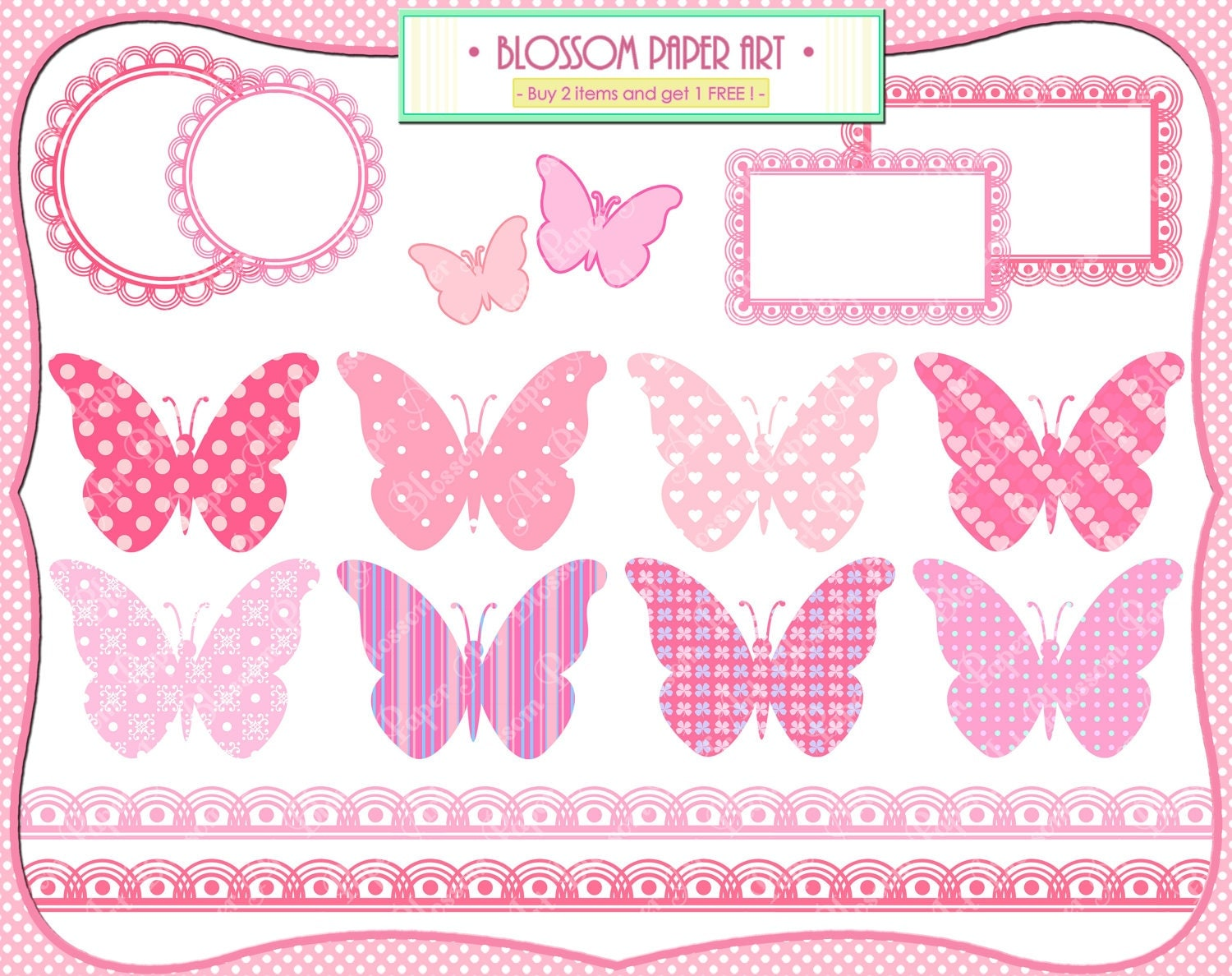 Uncategorized Girl Printables baby girl butterflies pink shower printables invitations labels borders scrapbooking 1370