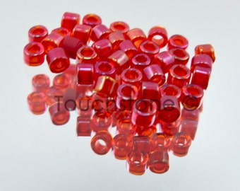 11/0 Delica Seed Beads CinnamonRed/Red AB 7.2 Grams DB295 #45-113295