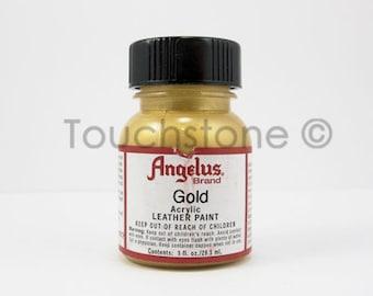 Gold Angelus Acrylic Leather Paint 1oz Bottle #6-720072