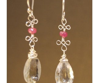 Pink sapphire and green amethyst Victorian 145