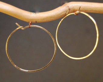 Hammered Medium Hoop Earrings
