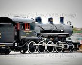 "12"" x 18"" print of Atlantic Yadkin 542 steam engine train photograph by Vanessa Giddens.  Red, Black, Atlanta Yadkin steam engine train."