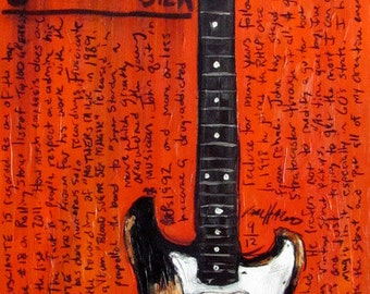 John Frusciante Art. Red Hot Chili Peppers. 1962 Fender Stratocaster electric guitar art print.