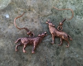 Into the Wild- Copper Wolf Earrings