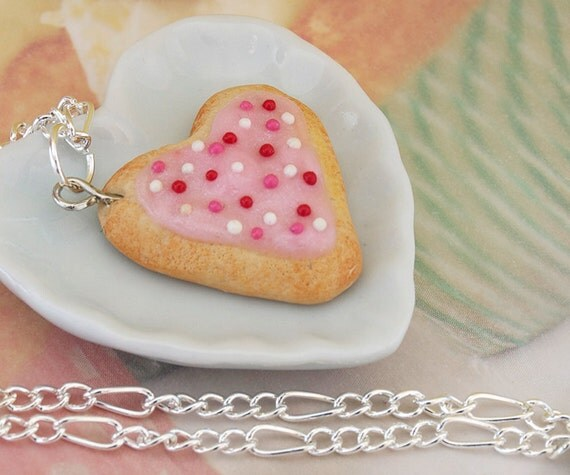 Heart Sugar Cookie Necklace