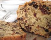 Gluten Free Holiday Fruitcake -fruit and nut filled holiday cake-
