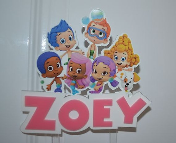bubble guppies cake toppers guppies personalized cake topper or any by 2100