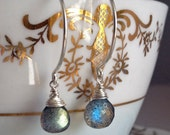 Labradorite Briolette Earrings