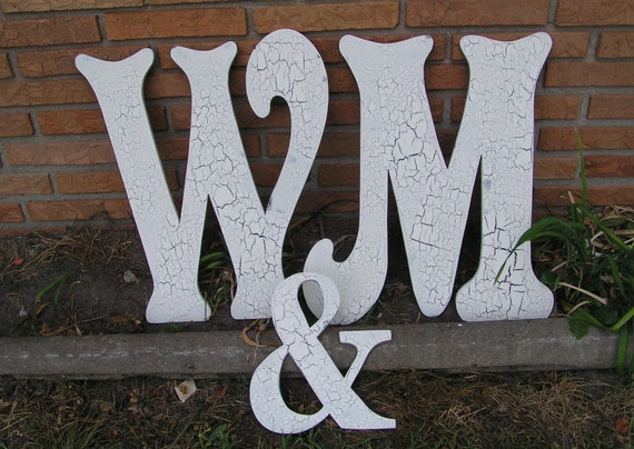 Items similar to wood wall wedding letters 2 2 foot for 3 foot tall letters