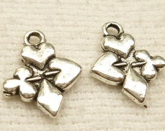 Club, Spades, Hearts, Diamonds, Card Suits Charms (6) - S63