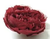 Claret/maroon handmade 100% silk flower hair clip/pin brooch
