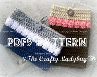 eReader sleeve crochet pattern / cozy / cover for Kindle / Kobo / Nook /  iPad / other eReaders - PDF9