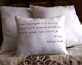 Pride and Prejudice-Darcy Proposal-Jane Austen 10X12 Inch Pillow