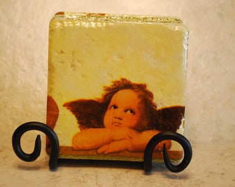Cherub Custom Made Ceramic Tile Coasters set of 4 or more