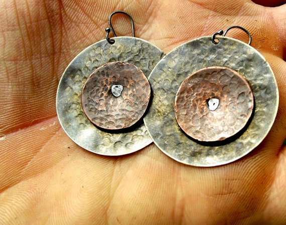 Bronze Age Coin Earrings