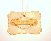 Wedding Thank you cards, Wedding Cuest Book Alternative,Vintage Favor Tags , Shower Tags,