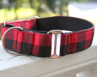 "The Lumberjack Red 1.5"" Martingale Collar"