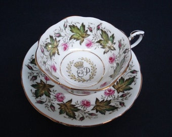 Marvelous Vintage CUP and SAUCER  Set by PARAGON, English Royalty E and P Fine Bone China Made in England