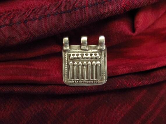 Antique Silver Sapta Matrikas Hindu Amulet