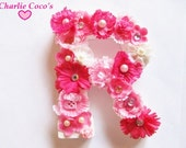 """Custom Hanging Wall Letters, Name Letters, Flower Letters for Girls/ Baby, Girls Room Decor- """"Letter Petals"""""""