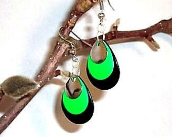 Splash of Green Pierced Earrings