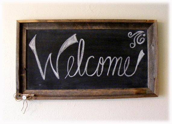 Rustic Chalkboard For Your Home Decor Or Wedding Blackboard
