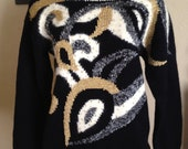 Black & Creme Sweater