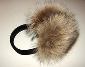 CLEARANCE EM-25 Genuine COYOTE Fur Earmuffs (Adult or Child size you pick)