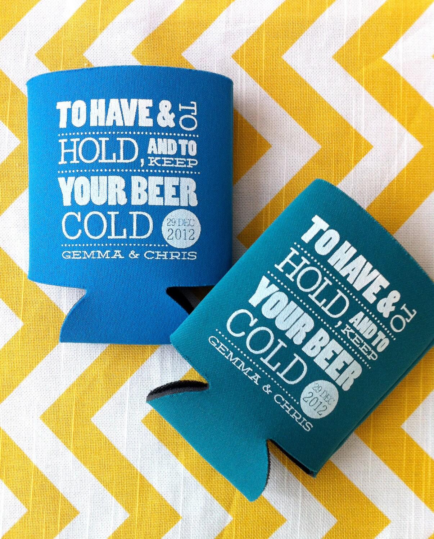 Have hold wedding koozies beer wedding koozie have by rookdesignco