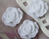 Lovely white 13mm resin flower push pins, thumb tacks