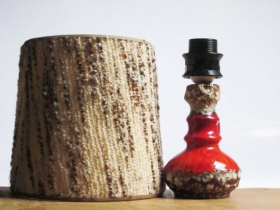 Mid Century Modern red fat lava lamp by Jopeko (West German Pottery)