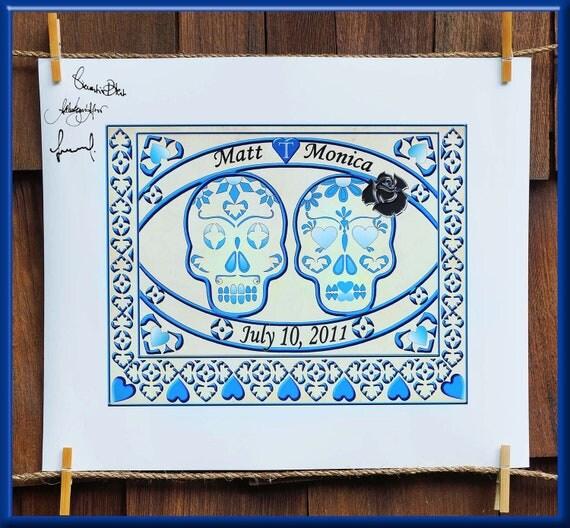 Rustic Mexican Wedding: Items Similar To Wedding Guestbook Unique Wedding
