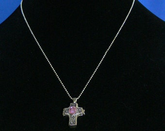 Necklace -  Cross Pendant with Chain -  FS-204