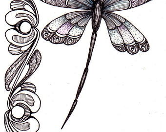 Whimsical dragonfly drawings - photo#24