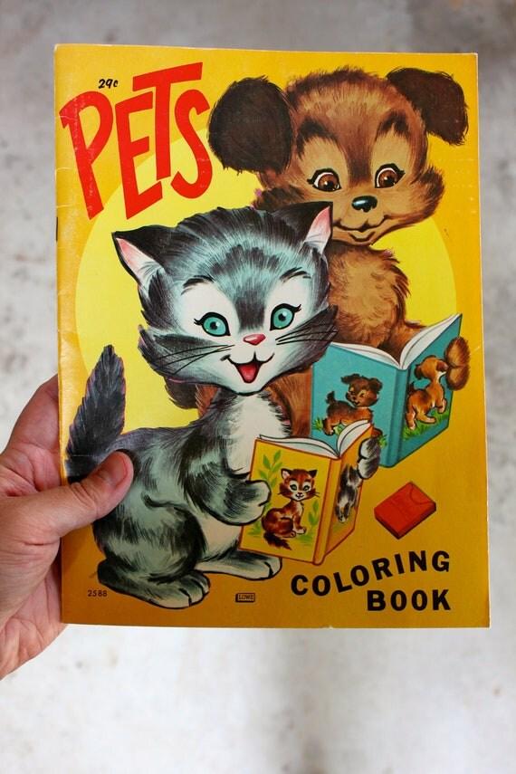 1974 Pets Coloring Book