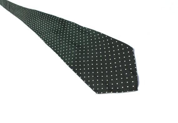 1930s Green Polka Dot Necktie, Dapper Vintage Silk Tie