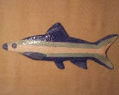 Whimsical Fish Wall Sculpture, Blue, Turquoise, Pink