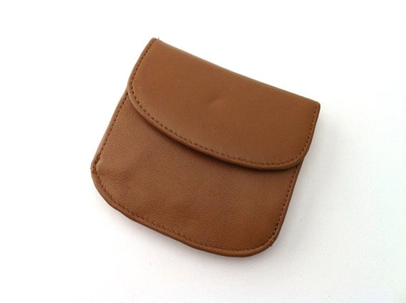 Tan Leather Women's Vintage Wallet