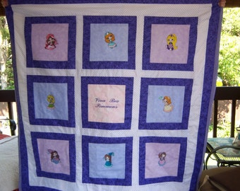 Princess Child/Baby Embroidery Quilt