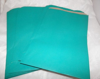 100 6x9 Teal Paper Merchandise Bags, Party Bags,Favor Bags, Gift Bags, Retail Bags, Gift Bags, Weddings,Colored Bags, Birthday Craft Bags