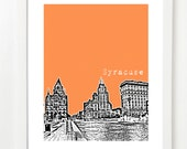 Syracuse Poster - New York State Art Print - City Skyline Series - Unique Graduation Gift