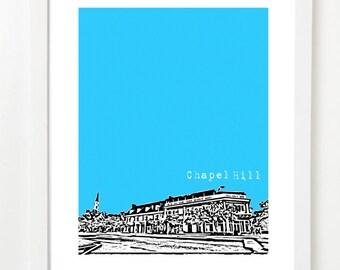 Chapel Hill North Carolina Poster City Skyline Art Print - VERSION 1